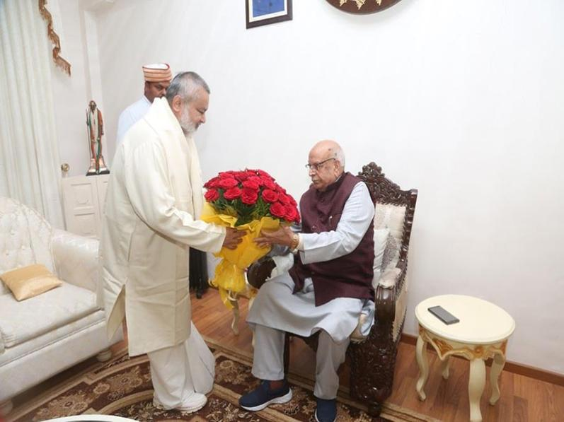 Brahmachari Girish Ji visited His Excellency The Governor of Madhya Pradesh