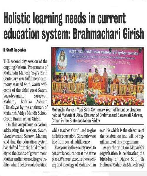 Holistic Learning needs in current education system